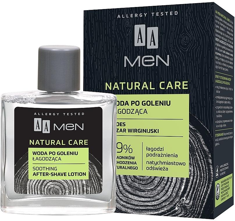 Loción aftershave hipoalergénica con jugo de aloe vera - AA Men Natural Care Sooting After-Shave Lotion