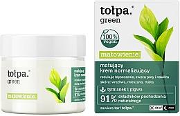 Perfumería y cosmética Crema facial matificante con extracto de membrillo - Tolpa Green Mattifying Normalizing Cream