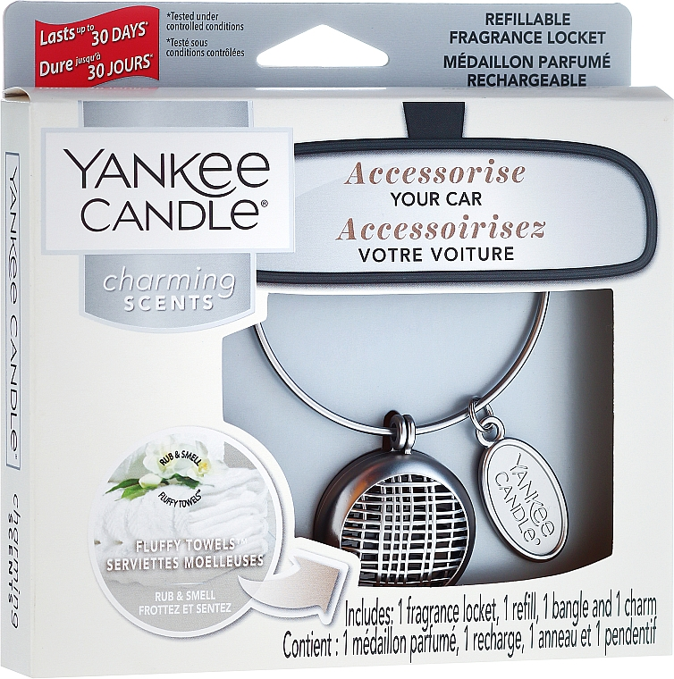 Kit ambientador de coche - Yankee Candle Fluffy Towels Linear