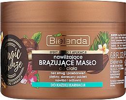 Perfumería y cosmética Manteca corporal bronceadora con aceite de macadamia y extracto de nuez - Bielenda Magic Bronze Moisturizing Bronzing Body Butter