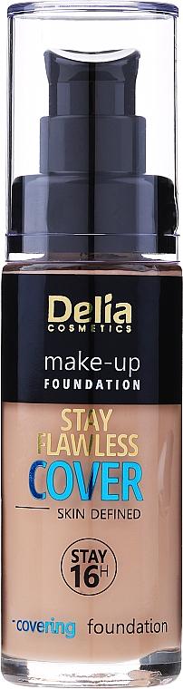 Base de maquillaje de larga duración con vitaminas C y E - Delia Cosmetics Stay Flawless Cover