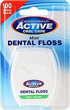Perfumería y cosmética Hilo dental con sabor a menta - Beauty Formulas Active Oral Care Dental Floss Mint Waxed 100m