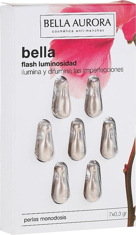Perlas faciales monodosis hipoalergénicas con extracto de plancton - Bella Aurora Flash Luminosity Facial Treatment