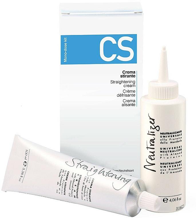 Set de alisado capilar - Fanola CS Straightening Kit (crema/100ml + neutralizador/120ml)