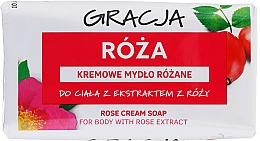 Perfumería y cosmética Jabón corporal con extracto de rosa - Gracja Rose Cream Soap With Rose Extract