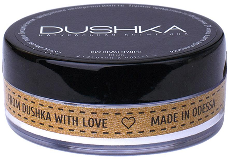 Polvo facial de arroz con efecto mate - Dushka