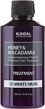 Perfumería y cosmética Tratamiento para cabello con extracto de miel y macadamia, aroma a musgo blanco - Kundal Honey & Macadamia Treatment White Musk