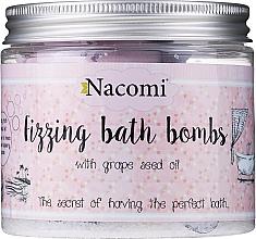 Perfumería y cosmética Set bombas de baño - Nacomi Fizzing Bath Bomb With Grape Seed Oil (4 uds.)