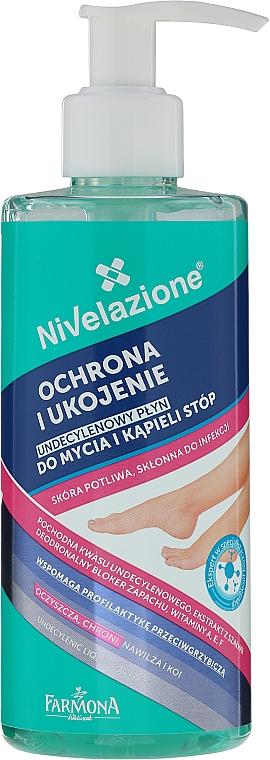 Producto antibacteriano para pies propensos a infecciones - Farmona Nivelazione Undecylenic Foot Bath and Washing Liquid
