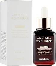 Perfumería y cosmética Sérum facial de noche reparador con extracto de camelia y uva - Secret Key Multi Cell Night Repair Ampoule