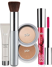 Perfumería y cosmética Pur Minerals Best Sellers Starter Kit Light - Set de maquillaje (prebase/10ml+ base de maquillaje/4.3g+ bronceador /3.4g+ máscara/5g+ brocha)
