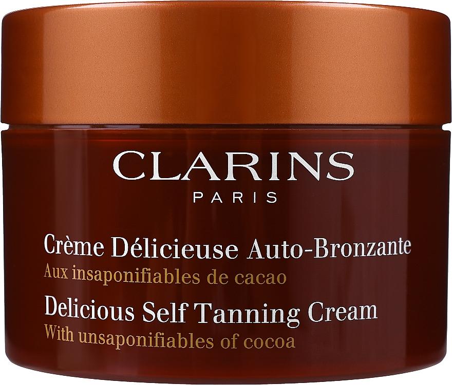 Crema autobronceadora para rostro y cuerpo con aroma a cacao - Clarins Delicious Self Tanning Cream