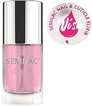 Perfumería y cosmética Aceite para uñas y cutículas, aroma vainilla y caramelo - Semilac Care Nail & Cuticle Elixir Wish