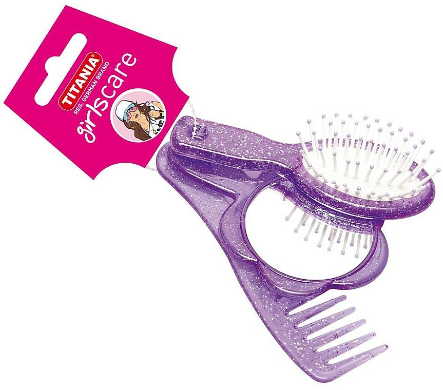 Set herramientas de peinado, violeta - Titania