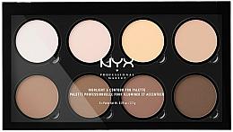 Perfumería y cosmética Paleta profesional de iluminadores & contornos de maquillaje - NYX Professional Makeup Highlight & Contour Pro Palette