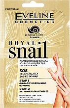 Perfumería y cosmética Exfoliante y mascarilla para manos con extracto de baba de caracol - Eveline Cosmetics Royal Snail Sos Regenerating Hand Treatment