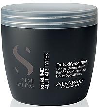 Perfumería y cosmética Barro detoxificante con extracto de moringa y semilla de lino, aroma floral - Alfaparf Semi Di Lino Sublime Detoxifying Mud Treatment