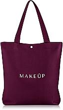 Perfumería y cosmética Bolso shopper, color granate, (35x39x8cm) - MakeUp Easy Go