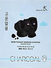 Perfumería y cosmética Mascarilla facial con carbón activado, extracto de pomelo y jugo de aloe vera - Beauty Kei Micro Facialist Boosting Charcoal Essence Mask
