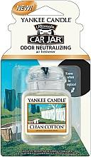 """Perfumería y cosmética Ambientador de coche """"algodón limpio"""" - Yankee Candle Car Jar Ultimate Clean Cotton"""