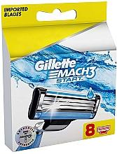 Perfumería y cosmética Recambios de cuchillas, 8uds. - Gillette Mach3 Start