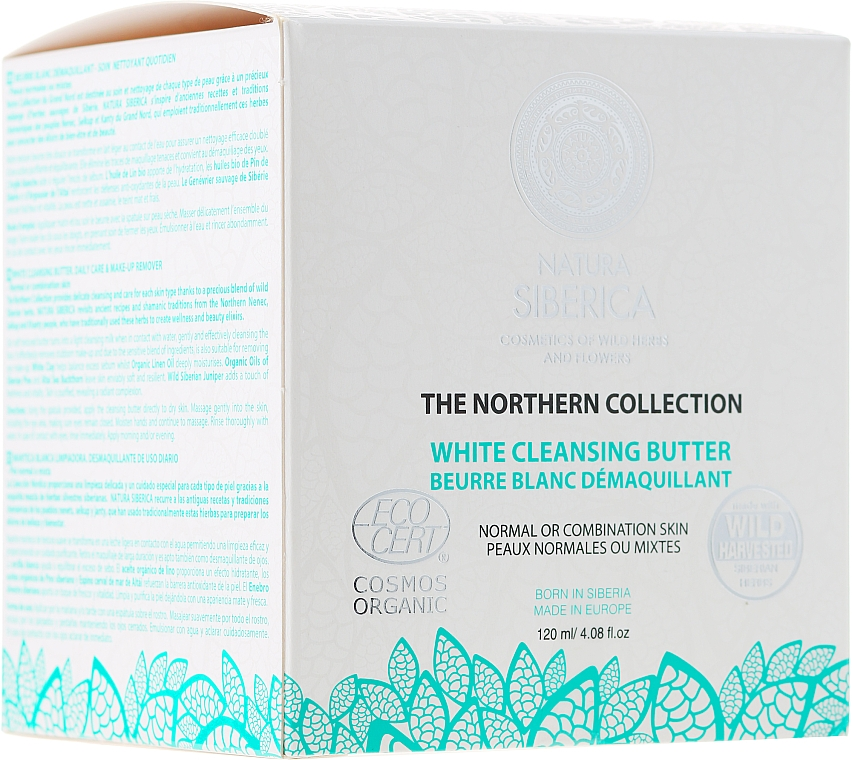 Manteca limpiadora facial con arcilla blanca y aceite ecológico de lino - Natura Siberica The Northern Collection White Cleansing Butter