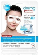 Perfumería y cosmética Mascarilla para contorno de ojos de hidrogel con magnesio y péptidos - Dermo Pharma 4D Moisturizing & Wrinkle Reduct Hydrogel Eye Mask