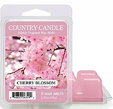 Perfumería y cosmética Cera para lámpara aromática con fragancia a flor de cerezo - Country Candle Cherry Blossom Wax Melts