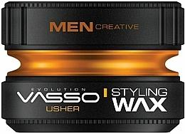 Perfumería y cosmética Cera para cabello de fijación muy fuerte con aroma a mandarina y pachulí - Vasso Professional Hair Styling Wax Usher