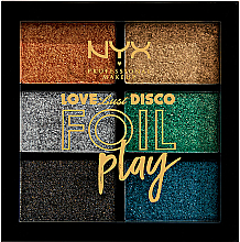 Perfumería y cosmética Paleta de pigmentos de maquillaje - NYX Professional Makeup Love Lust Disco Foil Play Pigment Palette