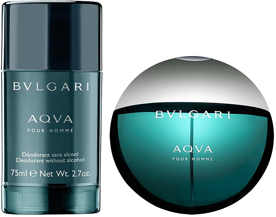 Bvlgari Aqva Pour Homme - Set (edt/100ml + desodorante/75ml) — imagen N2