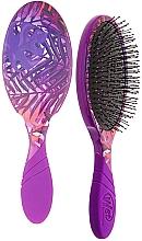 Perfumería y cosmética Cepillo de pelo con mango de goma, lila - Wet Brush Pro Detangler Neon Summer Tropics Purple