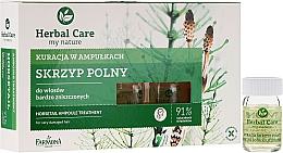 Perfumería y cosmética Tratamiento capilar para crecimiento del cabello con extracto de ginseng - Farmona Herbal Care Horsetail Ampoule Treatment