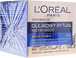 Perfumería y cosmética Crema-mascarilla facial con aceites nutritivos - L'Oreal Paris Nutri Gold Night Cream-Mask