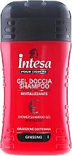 Perfumería y cosmética Champú gel de ducha con extracto de ginseng - Intesa Classic Black Shower Shampoo Gel Revitalizing
