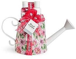 Perfumería y cosmética Set corporal (gel de ducha/150ml+ loción/150ml+ sales de baño/100g+ esponja) - IDC Institute Royal Garden