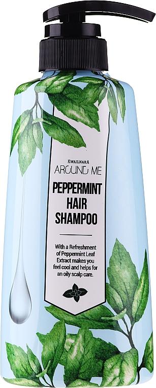 Champú refrescante con extractos de menta y árbol de té - Welcos Around Me Peppermint Fresh Hair Shampoo