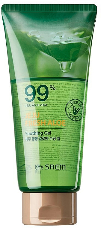 Gel calmante con 99% aloe vera - The Saem Jeju Fresh Aloe Soothing Gel 99% (botecito)