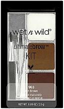 Perfumería y cosmética Kit para cejas (pinzas, cepillo, polvos x2 y cera x2) - Wet N Wild Ultimate Brow Kit