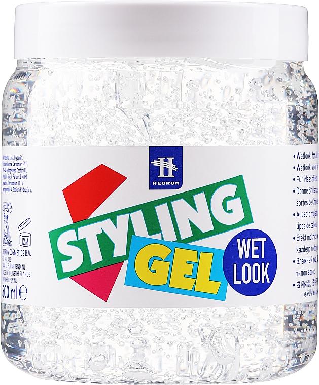 Gel para cabello con efecto de rizos húmedos - Hegron Styling Gel Wet Look
