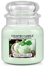 Perfumería y cosmética Vela en tarro con aroma a pistacho & crema de vainilla azucarada - Country Candle Pistachio Gelato