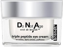 Perfumería y cosmética Crema antiarrugas para contorno de ojos con complejo de triple péptido - Dr. Brandt Triple Peptide Eye Cream