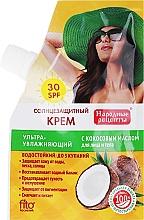Perfumería y cosmética Crema protectora solar con aceite de coco SPF30 - Fito Cosmetic, recetas populares