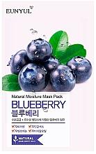 Perfumería y cosmética Mascarilla facial de tejido hidratante con extracto de arándano - Eunyul Natural Moisture Blueberry Mask
