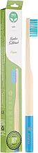 Perfumería y cosmética Cepillo dental de bambú, dureza media, azul claro - Biomika Natural Bamboo Toothbrush