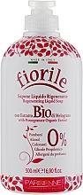 Perfumería y cosmética Jabón líquido regenerante con granada de agricultura biológica - Parisienne Italia Fiorile Pomergranate Liquid Soap