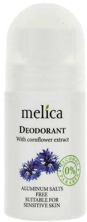Desodorante roll-on con extracto de aciano - Melica Organic With Cornflower Extract Deodorant