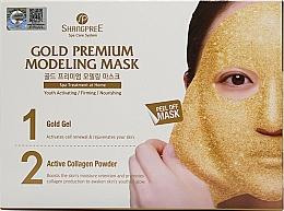 Perfumería y cosmética Mascarilla rejuvenecedora peel off con gel dorado, polvo de colágeno activo y extracto de centella asiática - Shangpree Gold Premium Plus Modeling Mask (gel/5x50g + powder/5x4,5g)
