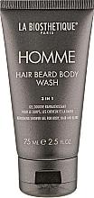Perfumería y cosmética Gel de ducha para cabello, cuerpo y barba 3en1 con extracto de algas - La Biosthetique Homme Hair Beard Body Wash