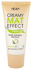 Perfumería y cosmética Base de maquillaje mate con aloe, proteínas de seda y vitamina E - Hean Creamy Mat Effect